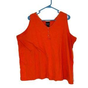 3/25$ Venezia Basicx Orange Sleeveless Tank 22/24
